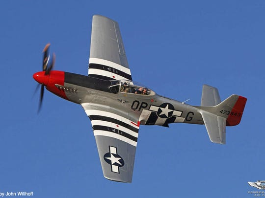 The Greenwood Lake Air Show returns to West Milford on June 8, 9 and 10 with this P-51 Mustang and other vintage military planes.