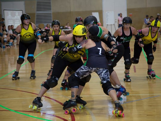 The Alamogordo Roller Derby will be hosting their first home bout of the season Saturday evening at the Washington Park roller rink as the Alamogordo Rocketdolls will take on the Albuquerque Roller Derby.