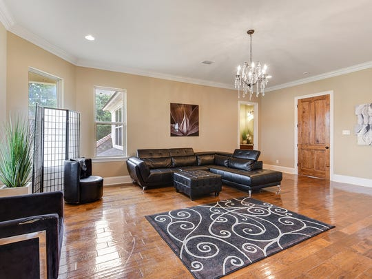 The upstairs living area is perfect for large families.