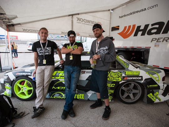 Jesse Wood on the Formula DRIFT circuit in Dallas,