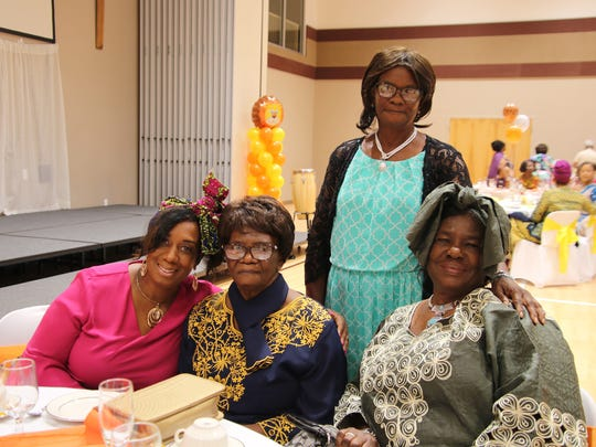 Debbie Oliver, left, Icilda Oliver, Pearline Barr,