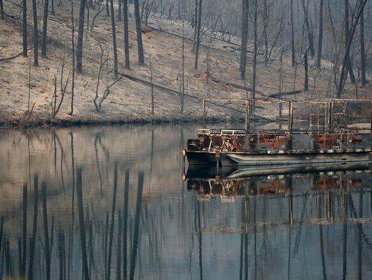Carr Fire Oak Bottom Marina