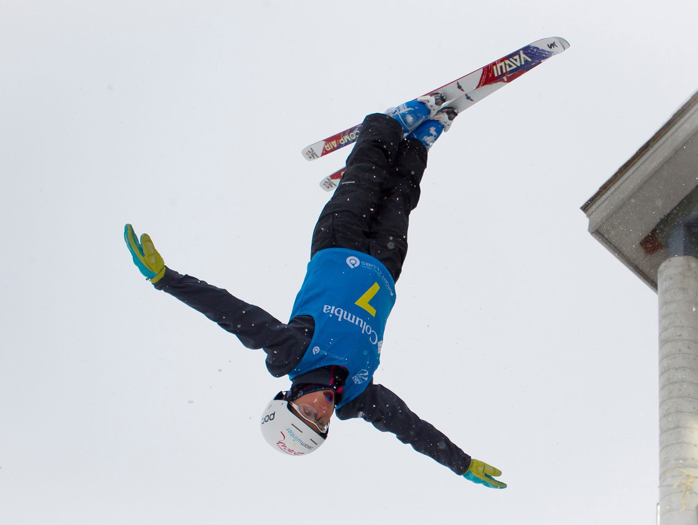 Winter Vinecki, 15, competes in the NorAm Cup 2013,
