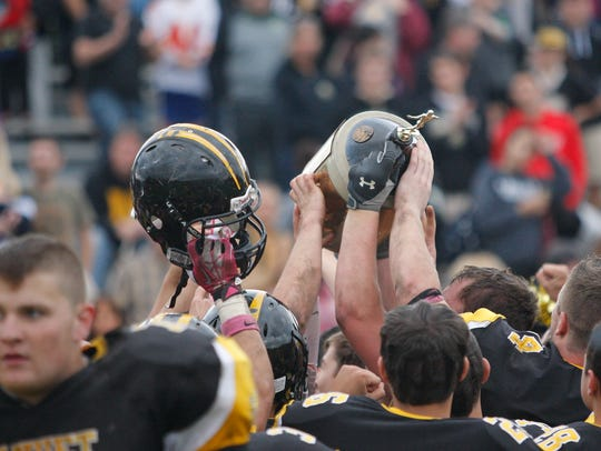 Nanuet will host rival Pearl River at 2:30 p.m. on Saturday, Nov. 4 in their annual Little Brown Jug rivalry.