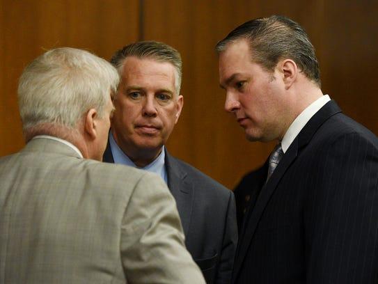 Daniel Rochat, right, defendant in the killing of Barbara