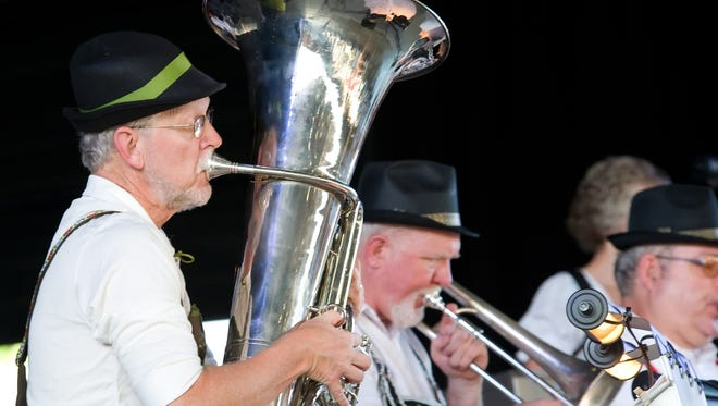 Live oompah band, Gesundheit, transport attendees to the streets of Munich for an authentic Oktoberfest funfair. The 19th Annual Oktoberfest is presented by Keith Lawson Services to benefit Elder Care Services.