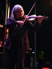 Violin player Charity Rose Thielen of The Head and The Heart performs during the Life is Beautiful festival in 2014 in Las Vegas, Nevada.