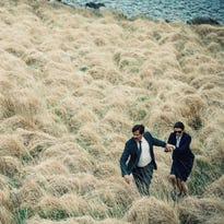 "John C. Reilly, Ben Whishaw and Colin Farrell appear in a scene from ""The Lobster."""