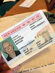 Arthur Mcintosh's driver's license was voided at the Alamogordo Motor Vehicle Department when he went to renew it in February. Under Real ID regulations, Mcintosh does not have a valid birth certificate causing him to get a Driver's Authorization Card instead.