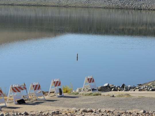 Lake Success Tuesday shows low water levels after a