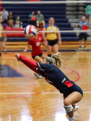 Effingham County High School senior libero Sara Bevill is back this season to lead the Rebels' volleyball team.
