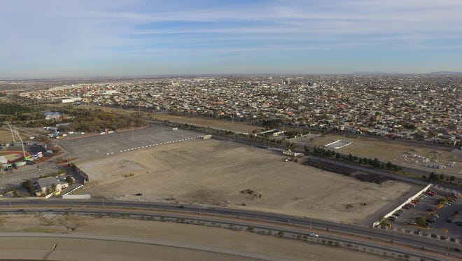 The area that once housed the Juarez Feria is now being prepared for Pope Francis' visit to Juarez in February.