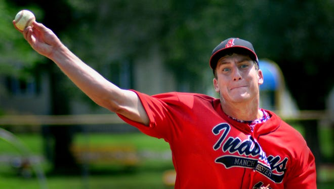 Mike Houseal pitched a complete-game three-hitter to get the win on Tuesday in Manchester's 4-1 victory over Mount Wolf.
