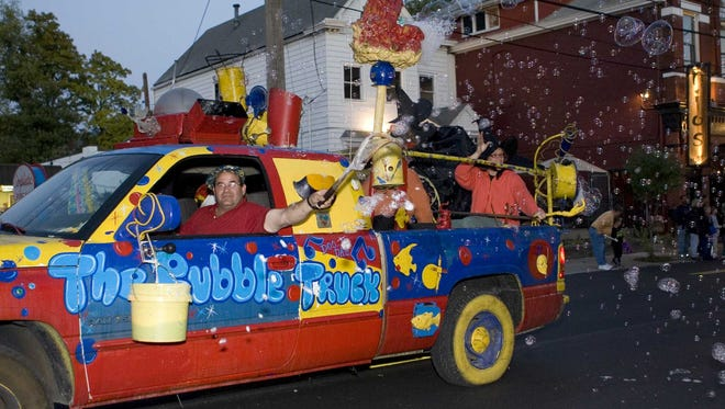 Participants proceeded down Baxter Avenue in the Caufield's Halloween Parade.