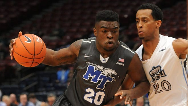 Middle Tennessee State's Giddy Potts will be back against Texas-El Paso.