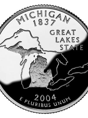 Michigan's quarter issued in 2004.