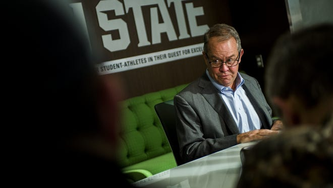 Michigan State athletic director Mark Hollis announces his retirement Friday. ESPN Outside the Lines published a report that says the university had a pattern of suppressing reports of sexual assault cases involving football and basketball players during the past 10 years.