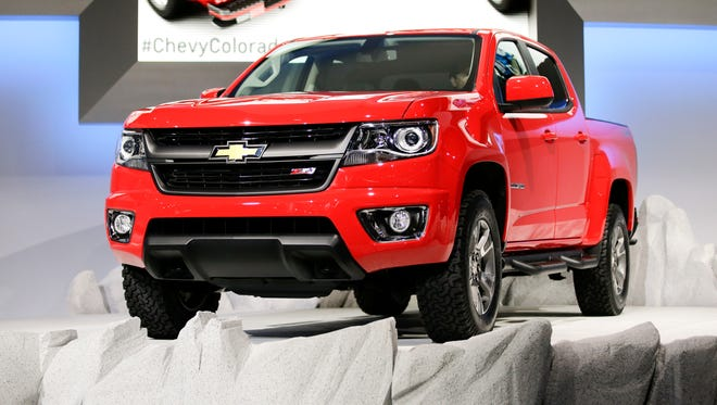 The new 2015 Chevrolet Colorado is introduced at the Los Angeles Auto Show in 2013.