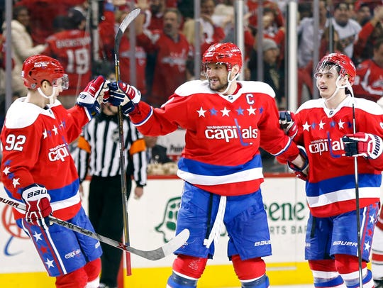 Ovechkin has led the NHL in hat tricks just once, racking up two during the 38-game lockout-shortened 2013 season. But he has scored multiple hat tricks in six seasons, including this year.