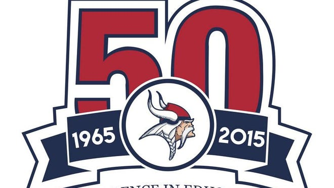 50th Anniversary logo designed by ERHS seniors Austin Cooper and Janice Lafferty