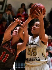 Haskell's C'Era Taylor and Albany's Chloe Fields battle