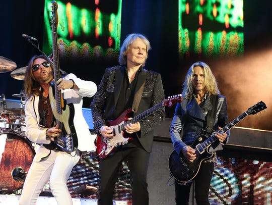 Ricky Phillips, from left, James Young and Tommy Shaw