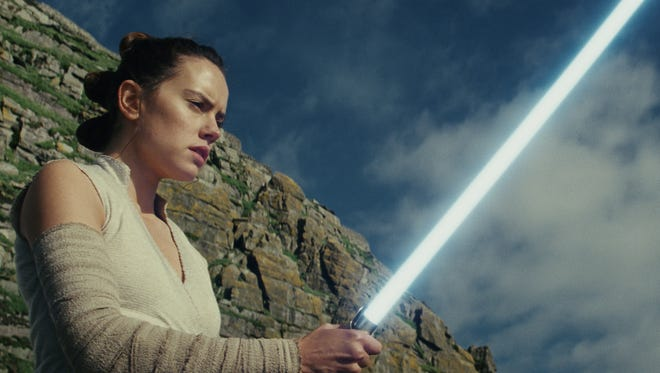 The second trailer for 'Star Wars: The Last Jedi' included new footage of Rey (Daisy Ridley).