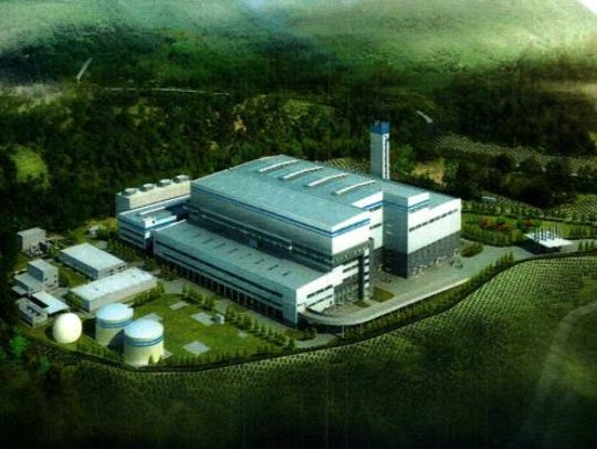 Artist's rendering of the proposed Circular enerG trash incinerator in Romulus, Seneca County.