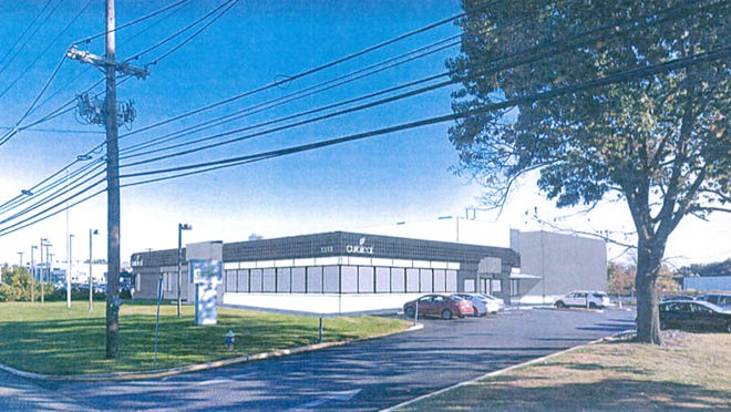 A rendering of the proposed Curaleaf dispensary on Route 73 in Mount Laurel.