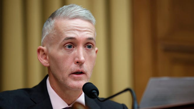 Rep. Trey Gowdy, R-S.C., speaks  on Capitol Hill, in Washington April 4, 2017. Gowdy is considering running to replace House Oversight Chair Jason Chaffetz, R-Utah.