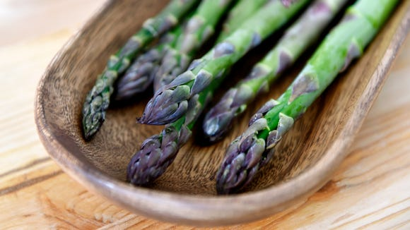 Fat asparagus, part of a CSA share from Prescott's Patch.