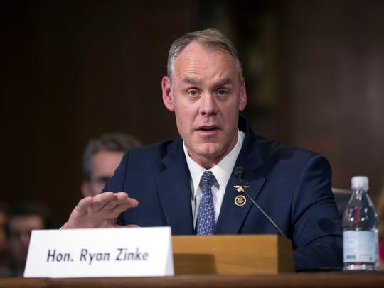 Interior Secretary-nominee, Rep. Ryan Zinke, R-Mont.