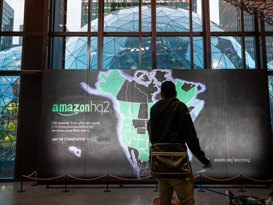 Amazon HQ2 proposal map