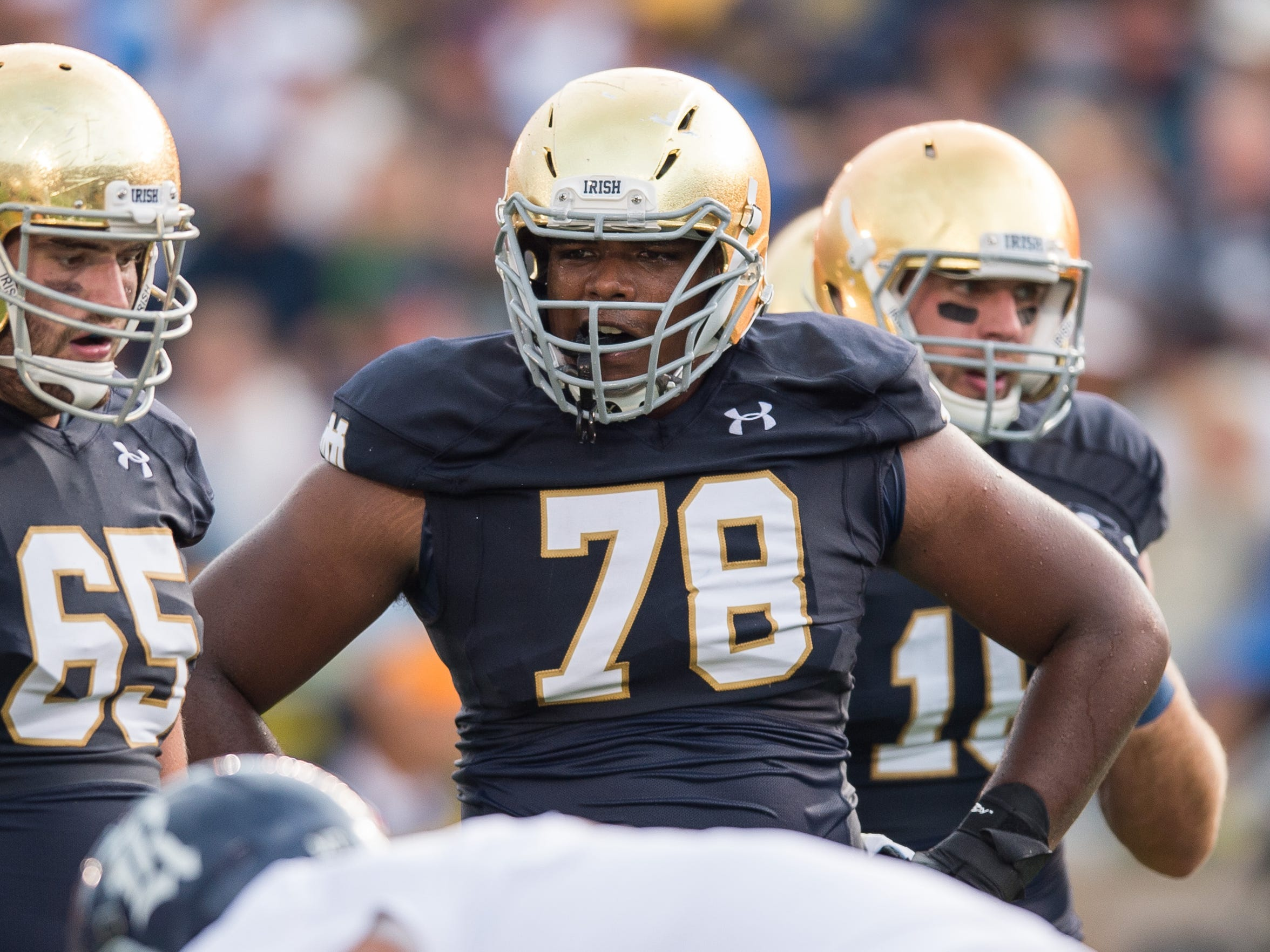 Notre Dame offensive lineman Ronnie Stanley (78)