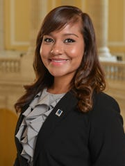 NMSU student Yesenia Luna, originally from Mesquite, N.M., worked as a summer intern in the office of Rep. Michelle Lujan Grisham.
