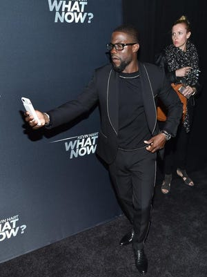 """Actor and comedian Kevin Hart attends a special screening of, """"Kevin Hart: What Now?"""", at the AMC Loews Lincoln Square on Wednesday. The film opens Thursday at Regal West Manchester Stadium 13, Frank Theatres Queensgate Stadium 13 and R/C Hanover Movies."""