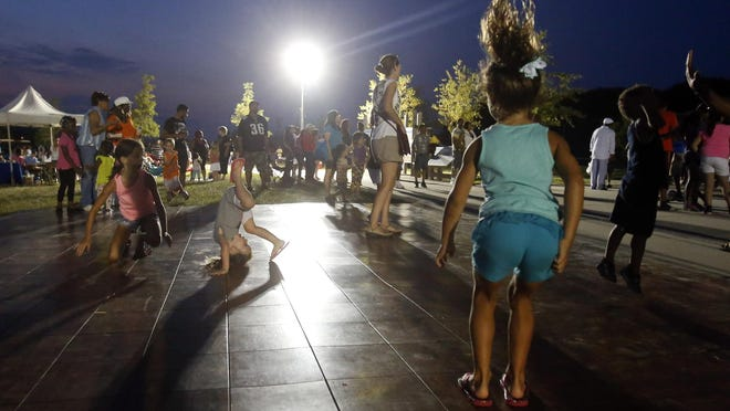 NATIONAL DANCE DAY: Kids dance to live music during the Food Truck Festival and Dancing in the Park at Glasgow Park Saturday.