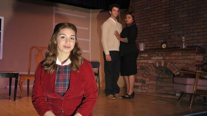 """Actors Caprese LoPresti, Noah Case, and Cristal Becerra star in the Tulare Western Curtain Call Players production of """"The Day's Mischief."""" The show opens 7 p.m. Friday, April 8 at the Tulare Western Little Theater, Room 811."""