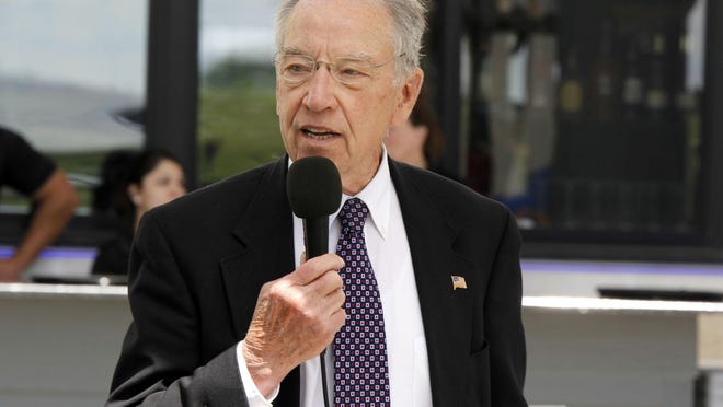 Senator Chuck Grassley speaking at the Altoona Chamber's Congressional Luncheon on Tuesday, May 30.