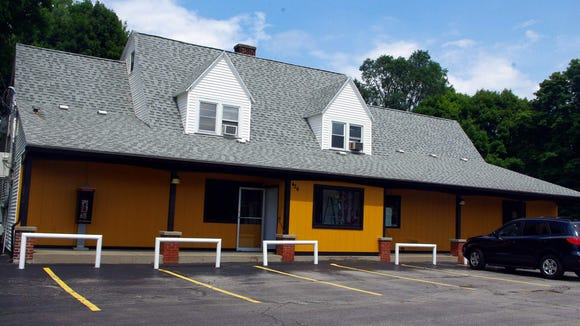 The old Seitz's Grocery looks pretty good with a new paint job. (Photo: M. Rosenberry)