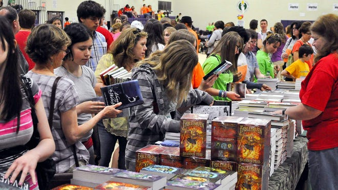 Book lovers crowded into the Greater Rochester Teen Book Festival in 2012.