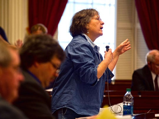 Rep. Cynthia Browning, D-Arlington, pictured in 2015, argued against a bill that would change workers' compensation rules for mental health conditions.