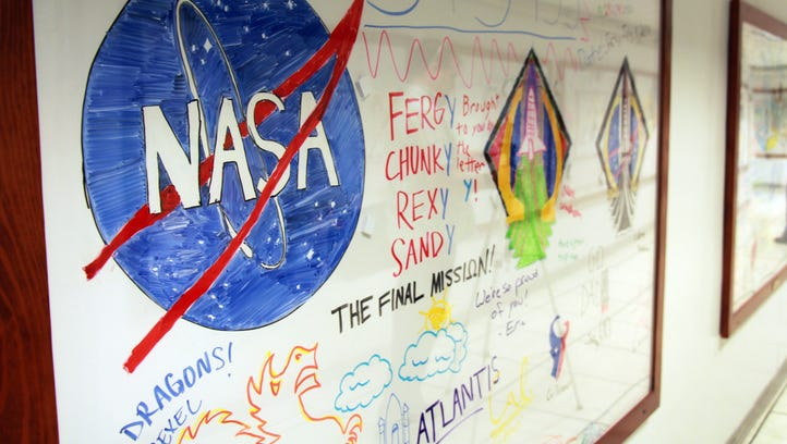 NASA whiteboards: Intimate look at art by astronauts' kids as mom, dad launched into space