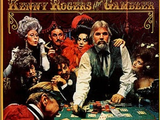 "The album cover of Kenny Rogers' ""The Gambler,"" released in 1978."