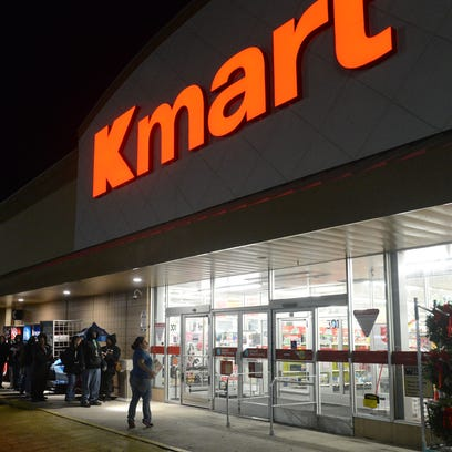 Hundreds brave the cold temperatures at Kmart