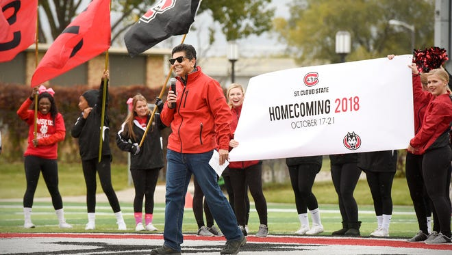 St. Cloud State University Interim President Ashish Vaidya  announced that next year there will be a Homecoming weekend celebration to kick off the school's 150th anniversary Saturday, Oct. 14, at Husky Stadium.