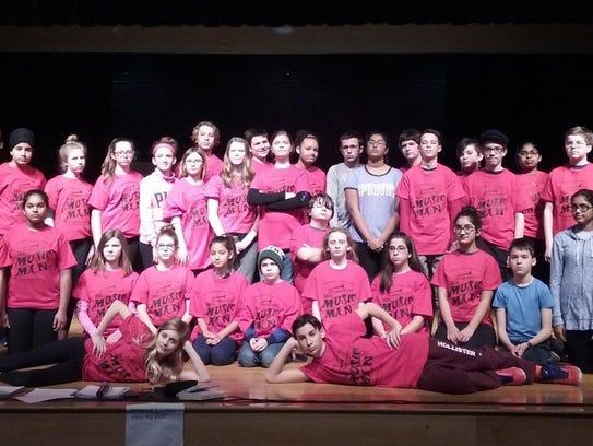 The cast of Novi Middle School Theater Company will
