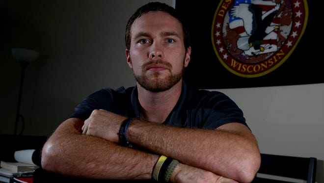 U. S. Air Force combat veteran Ken Corry is president of the Northeast Wisconsin Technical College chapter of Student Veterans of America.