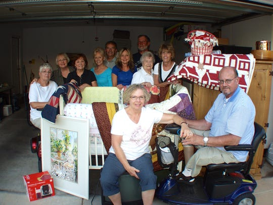 Neighbors and friends who helped organize a fundraiser
