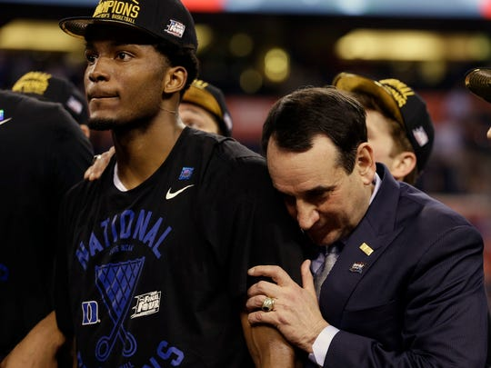 Justise Winslow won a national championship in his lone season at Duke